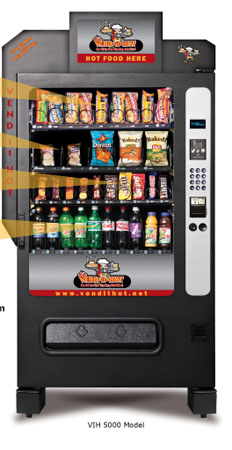 hot and cold food vending machines